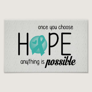 Hope (Teal) Poster