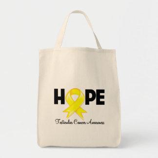 Hope Testicular Cancer Awareness Grocery Tote Bag