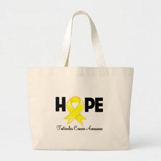 Hope Testicular Cancer Awareness Jumbo Tote Bag