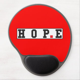 hope text message emotion feeling red dot square gel mouse pad
