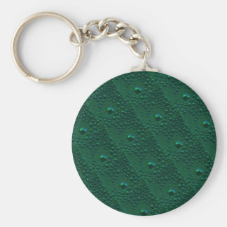 Hope the Green rain drop sample is green Basic Round Button Keychain