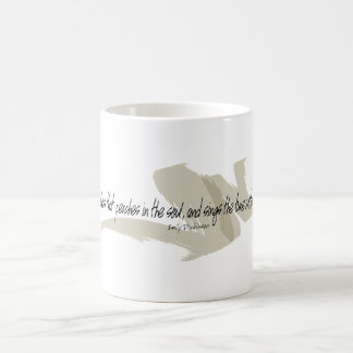 Hope, The Thing With Feathers Coffee Mug