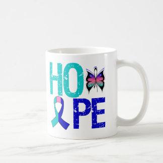 Hope Thyroid Cancer Classic White Coffee Mug