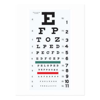 Hope to see you soon : Eye Chart Postcard