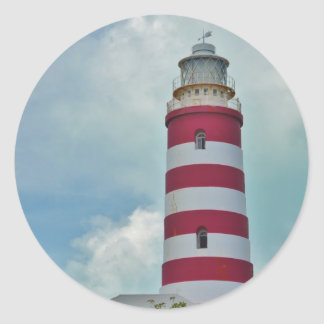 Hope Town Lighthouse Classic Round Sticker