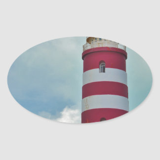 Hope Town Lighthouse Oval Sticker
