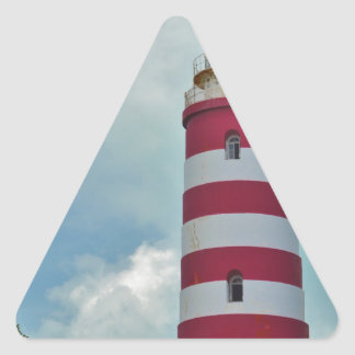 Hope Town Lighthouse Triangle Sticker