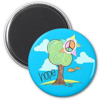 Hope Tree Magnet (Blue)