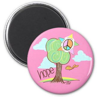 Hope Tree Magnet (Pink)