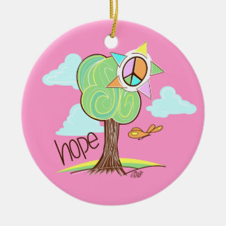 Hope Tree Ornament (Pink)