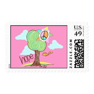 Hope Tree Postage (Pink)