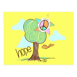 Hope Tree Postcard (Yellow)