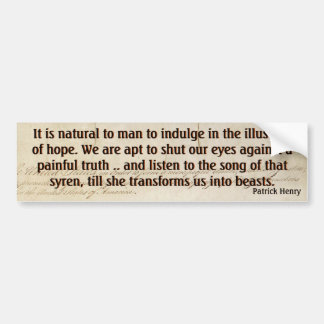 Hope v Painful Truth (Henry) Car Bumper Sticker