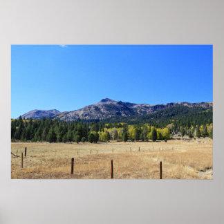 Hope Valley, Autumn, Sierra Nevada Mountains Poster