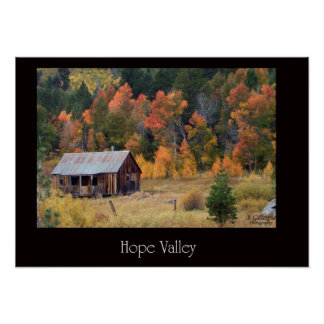 Hope Valley Cabin Poster