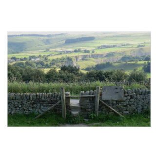 Hope Valley in the Derbyshire Dales Poster