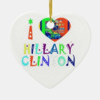 Hope Vote Blue  Lovely Reflection Amazing Hillary Ceramic Ornament