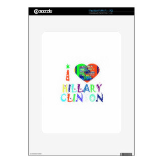 Hope Vote Blue  Lovely Reflection Amazing Hillary Decal For The iPad