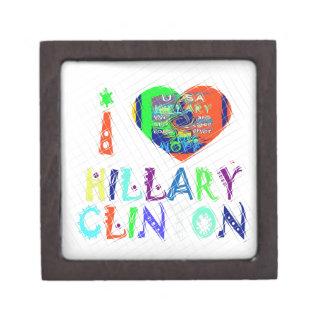 Hope Vote Blue  Lovely Reflection Amazing Hillary Jewelry Box