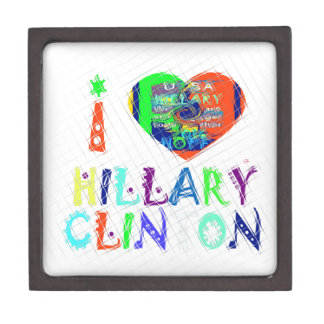 Hope Vote Blue  Lovely Reflection Amazing Hillary Keepsake Box