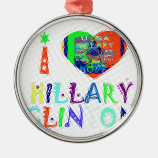 Hope Vote Blue  Lovely Reflection Amazing Hillary Metal Ornament