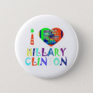 Hope Vote Blue  Lovely Reflection Amazing Hillary Pinback Button