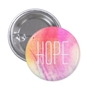 Hope Watercolor 1 Inch Round Button