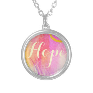 Hope Watercolor Silver Plated Necklace