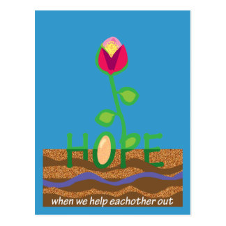 Hope when we help eachother out postcard