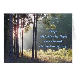 Hope Will Shine Its Light Sympathy Card