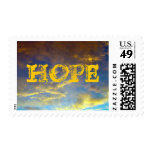HOPE with Golden Clouds Postage