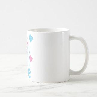 Hope with heart balloons coffee mug