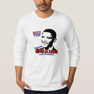 Hope Won Barack Obama Face Long Sleeve T Shirt