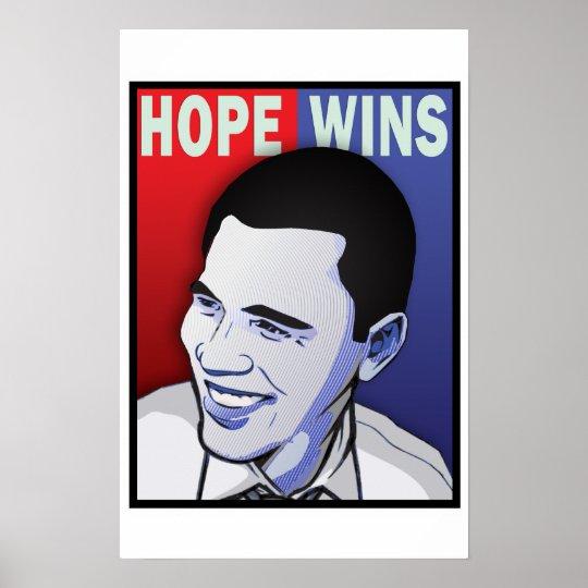Hope Won! - Barack Obama President of The USA Poster