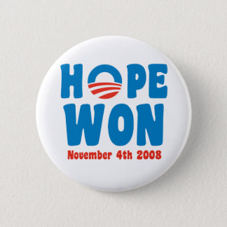 Hope Won Button
