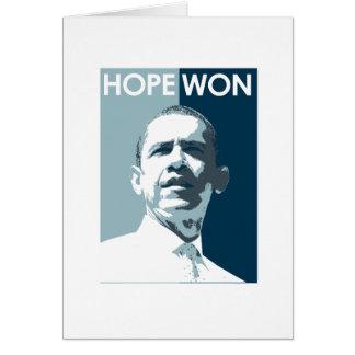 Hope Won Greeting Card