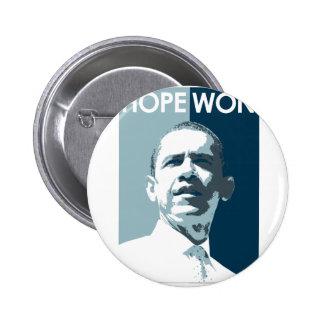 Hope Won Pinback Button