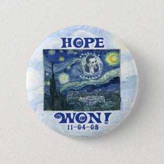 Hope Won President Obama Gear Pinback Button