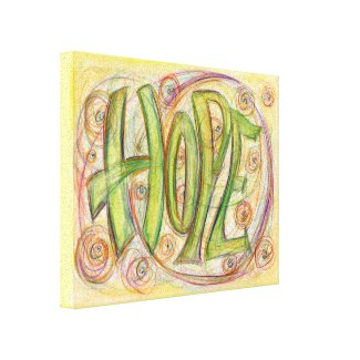 Hope Word Art Painting Wrapped Canvas Art