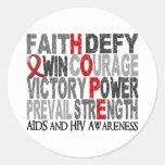Hope Word Collage AIDS Sticker