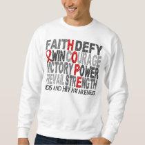 Hope Word Collage AIDS Sweatshirt