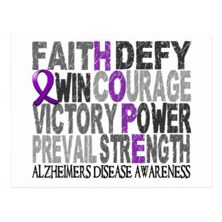Hope Word Collage Alzheimer's Disease Postcard