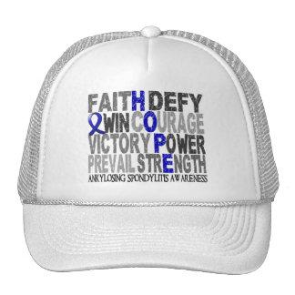 Hope Word Collage Ankylosing Spondylitis Mesh Hat