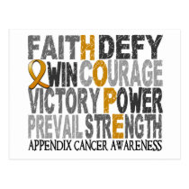 Hope Word Collage Appendix Cancer Postcard