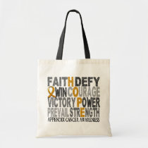 Hope Word Collage Appendix Cancer Tote Bag