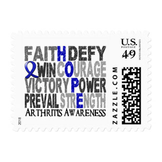 Hope Word Collage Arthritis Stamps