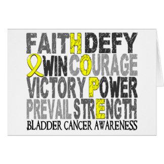 Hope Word Collage Bladder Cancer Card