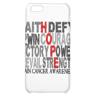 Hope Word Collage Brain Cancer iPhone 5C Covers