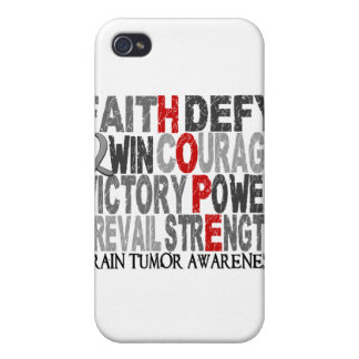 Hope Word Collage Brain Tumor iPhone 4/4S Case