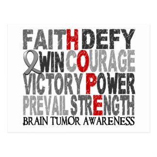 Hope Word Collage Brain Tumor Postcard